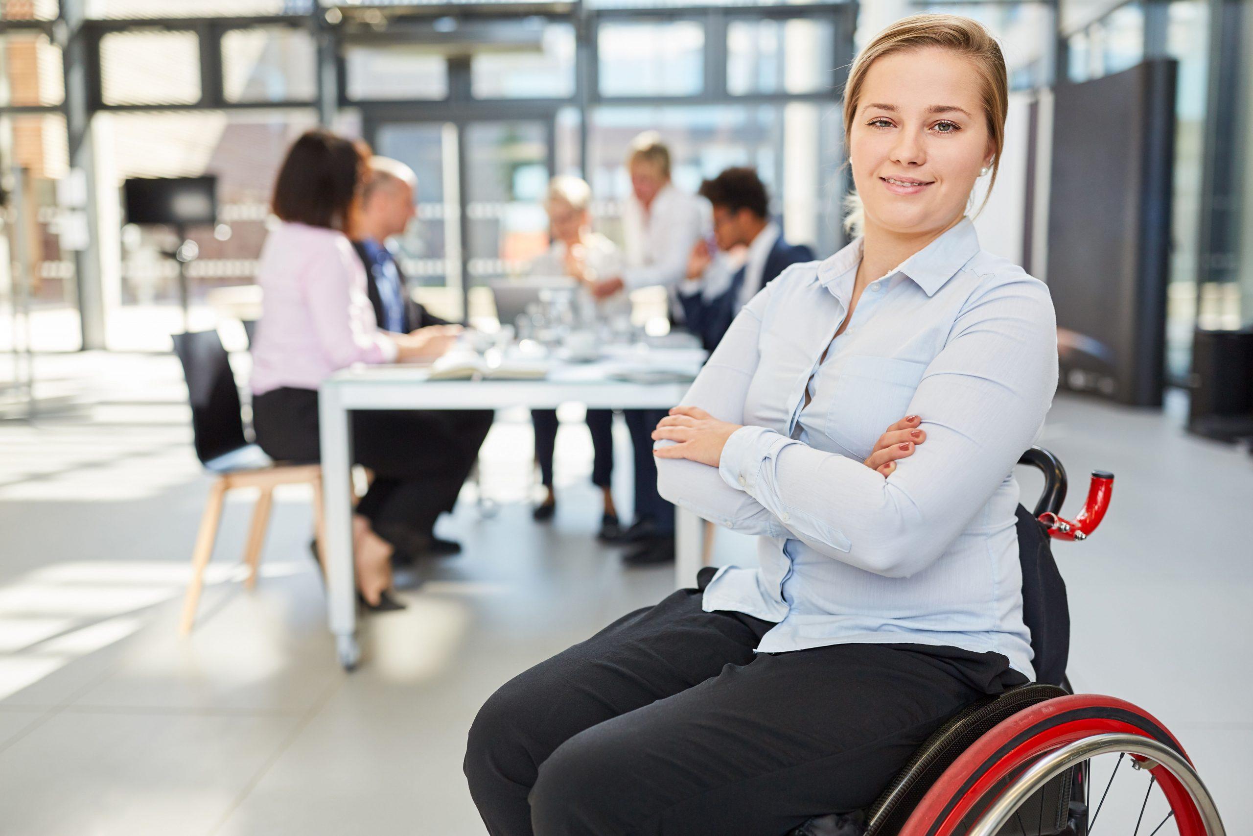 Travailleuse en situation de handicap